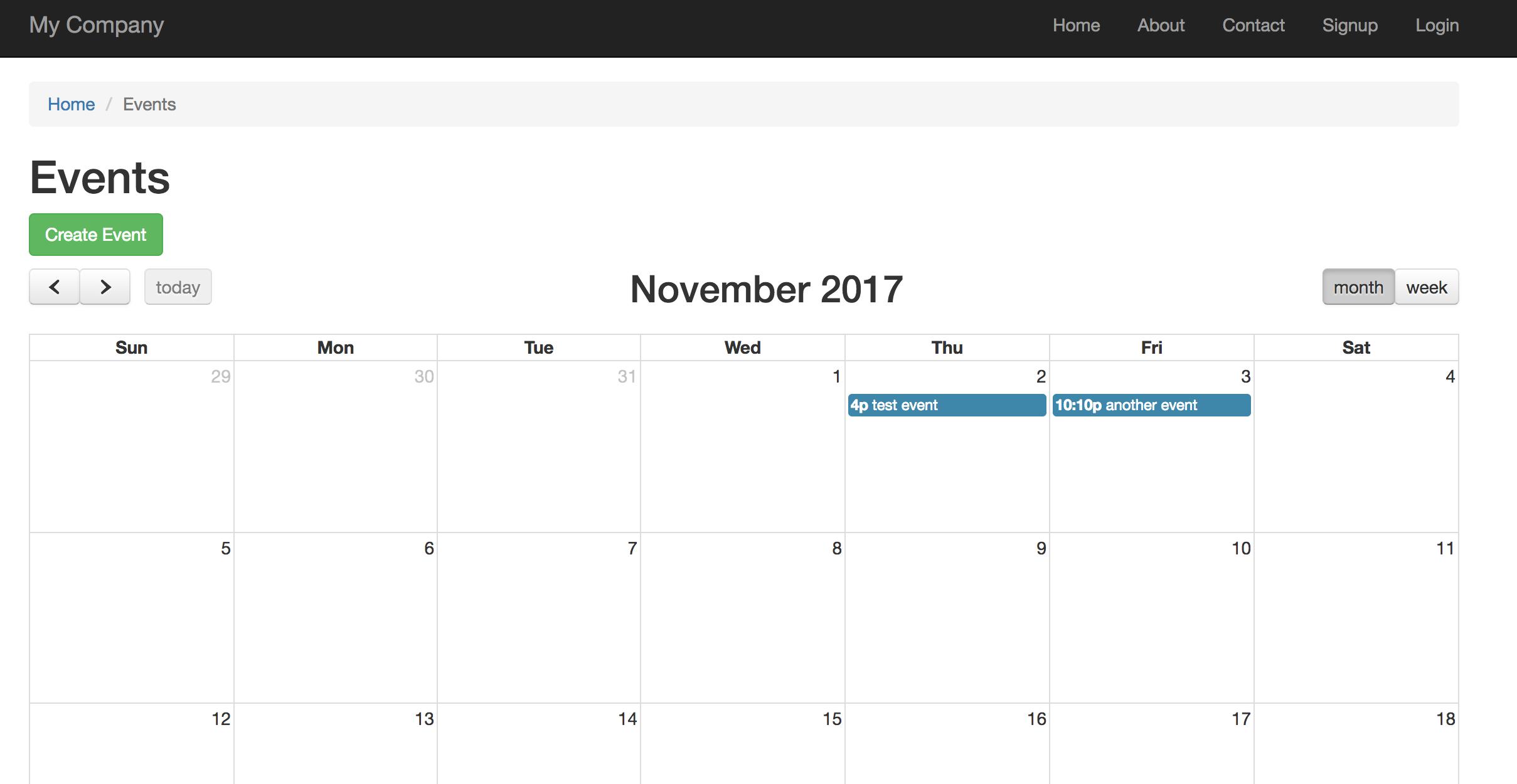 Tutorial Yii2 Calendar