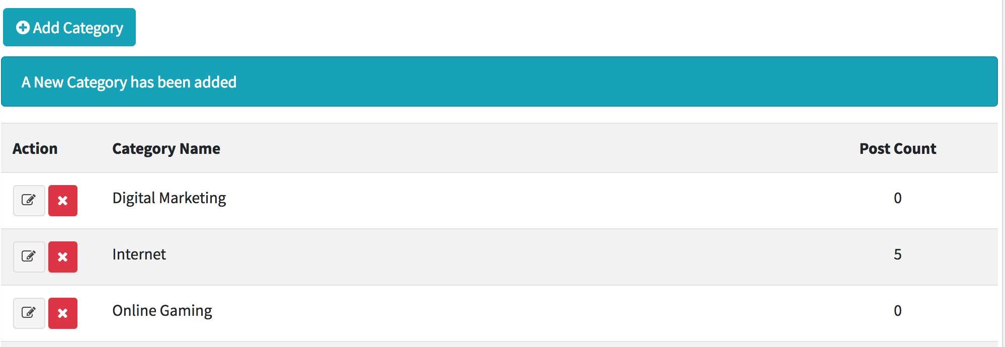Membuat Blog dengan Laravel 5.7 dan AdminLTE 3 (15) – Manage Kategori