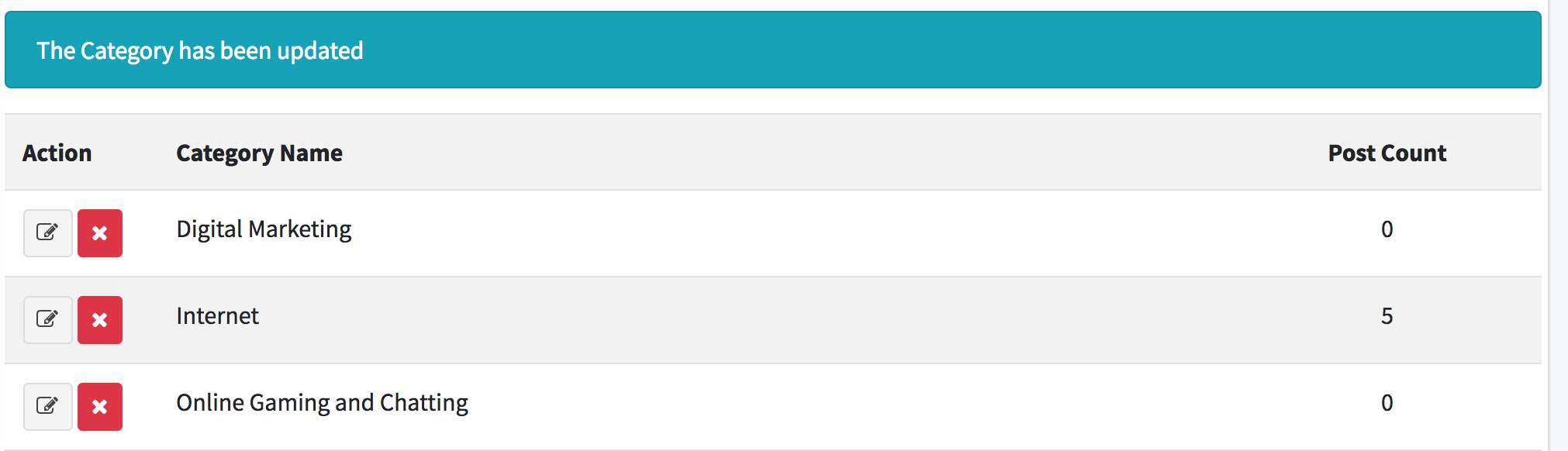 Membuat Blog dengan Laravel 5.7 dan AdminLTE 3 (15) – Manage Kategori 3