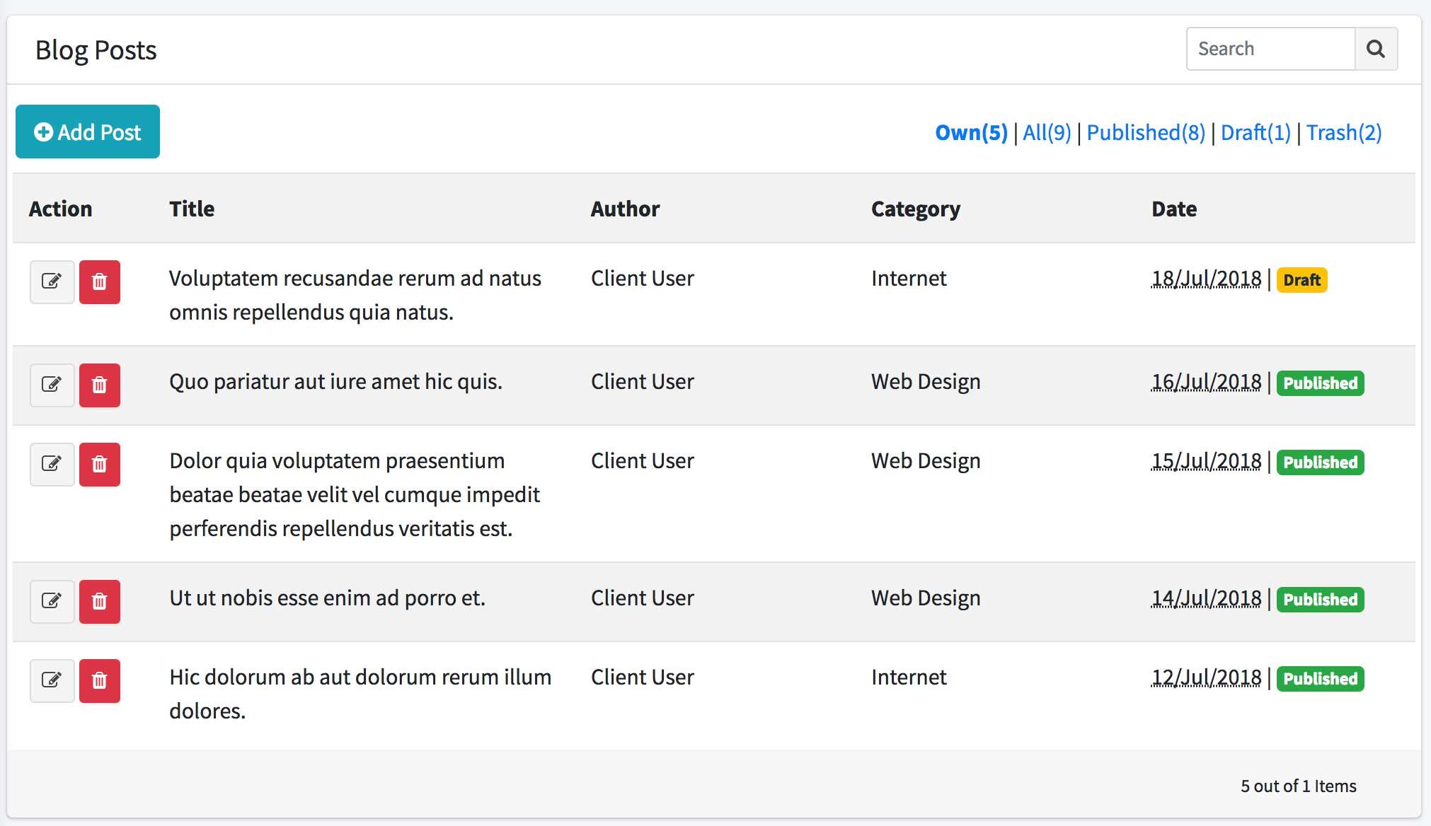 Access Control with Laratrust - WordPress-Like Blog Laravel 5.7 and AdminLTE 3 (17-2) 3