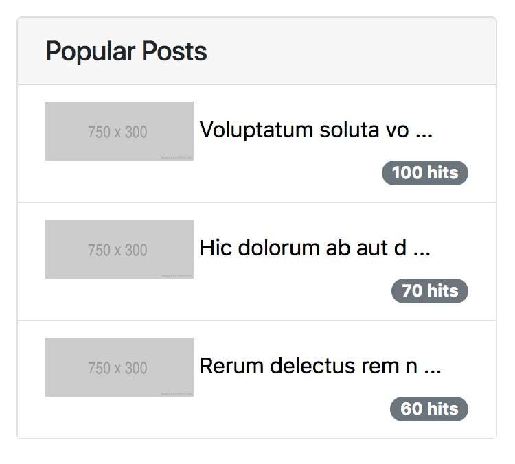 Membuat Blog dengan Laravel 5.7 dan AdminLTE 3 (8) – Menampilkan Popular Posts