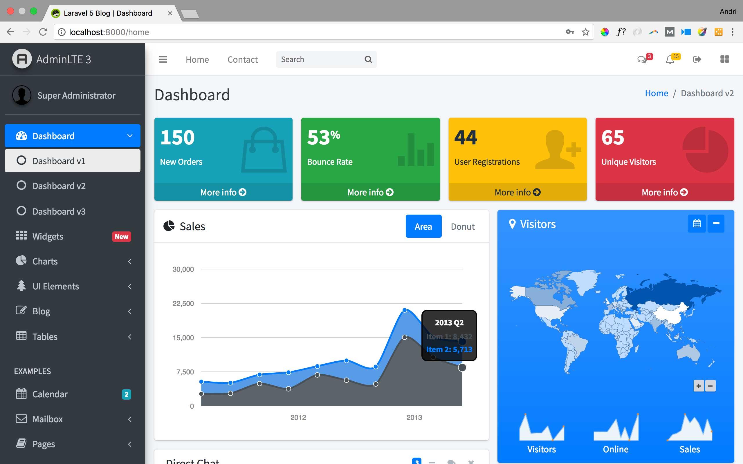 Membuat Blog dengan Laravel 5 7 dan AdminLTE 3 (9