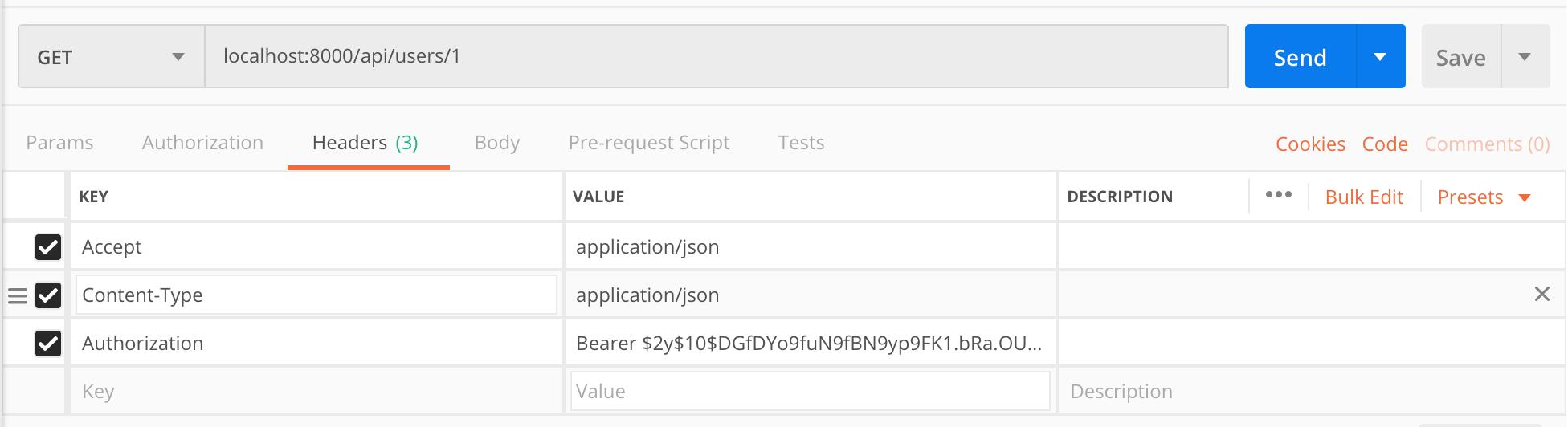 Laravel 5.7 Get Profile by ID