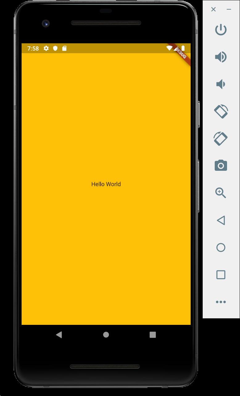 Aplikasi Flutter Hello World