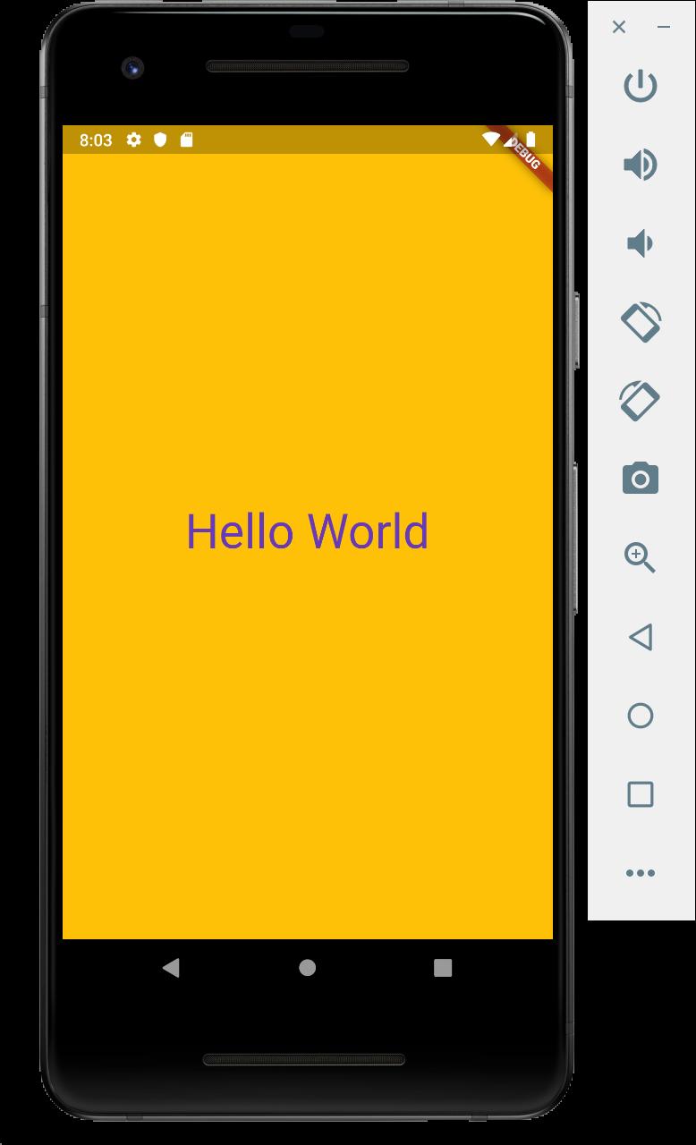 Flutter Application Hello World 2