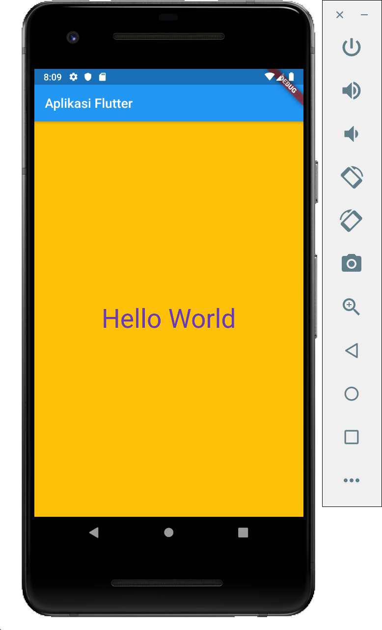 Aplikasi Flutter Hello World 3