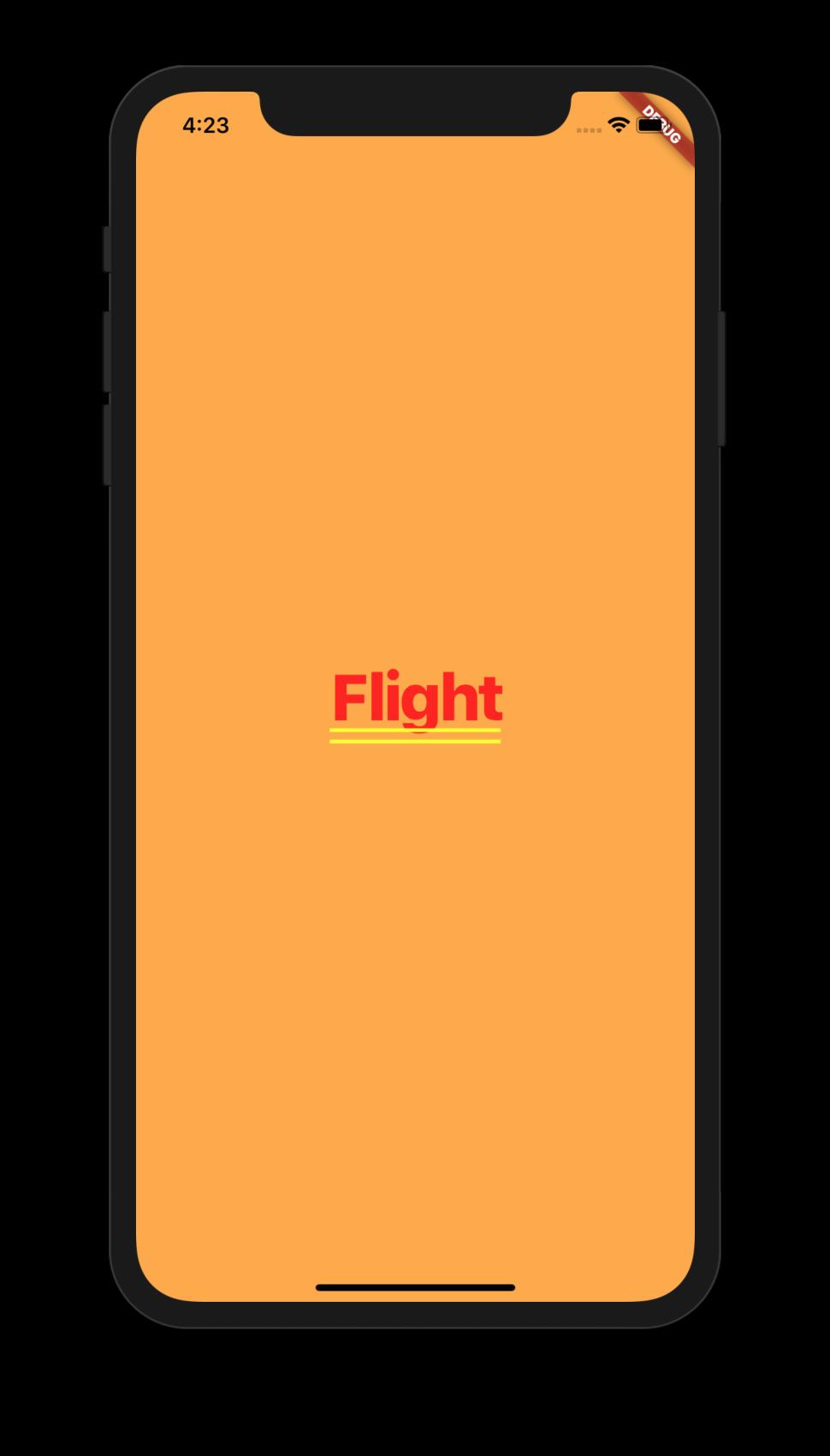Aplikasi Flight Flutter 1