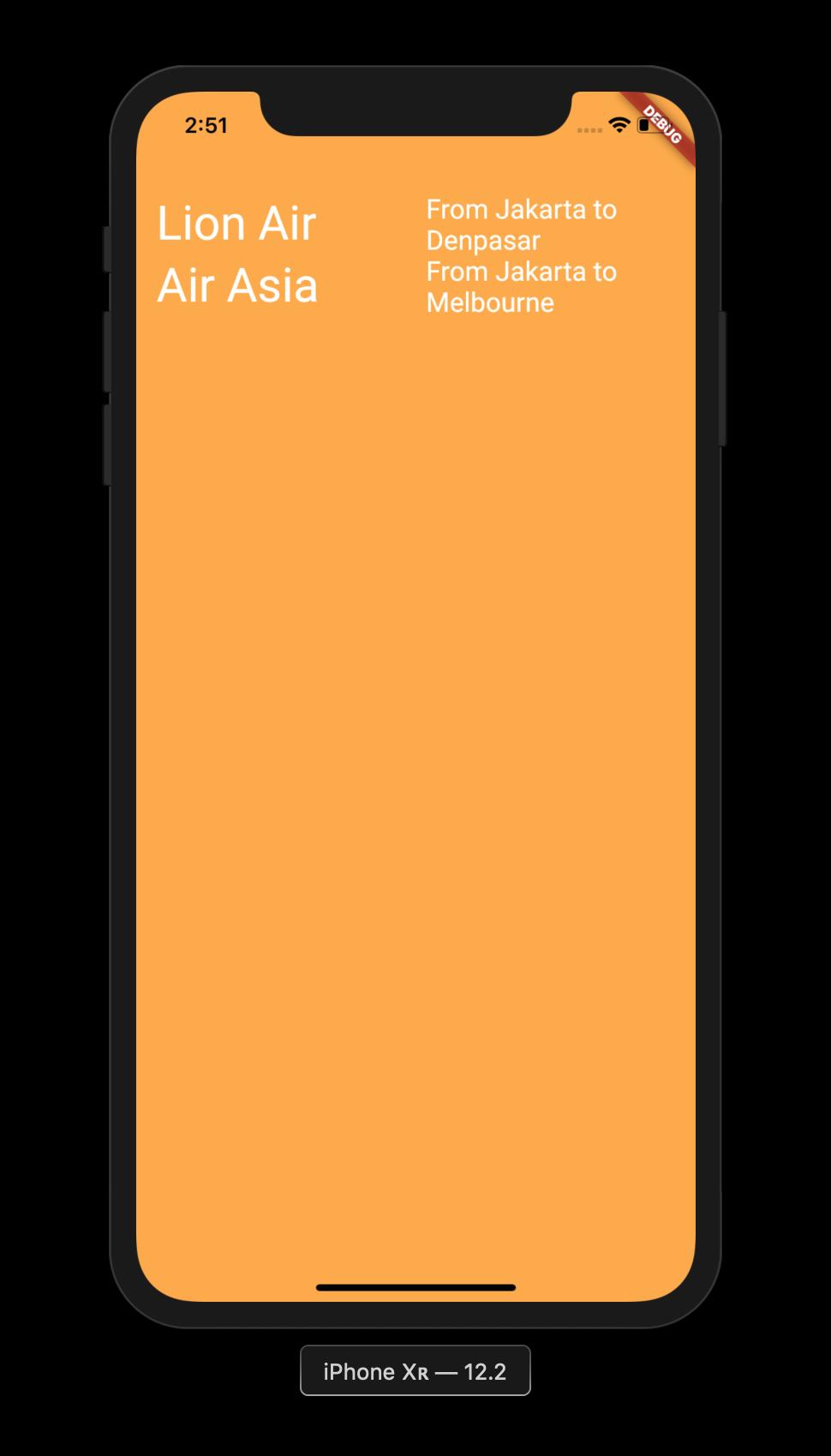 Flutter Application Expanded Widget 2