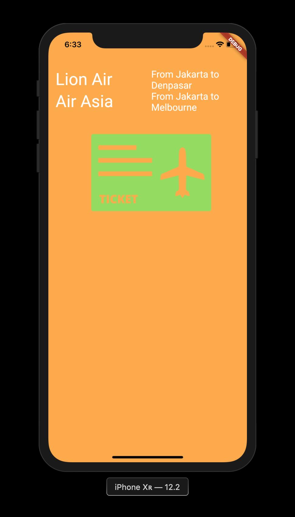 Flutter Application Image Asset