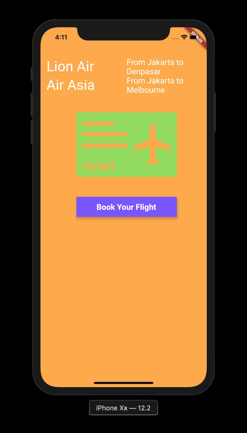 FLutter Application Book Your Flight 2