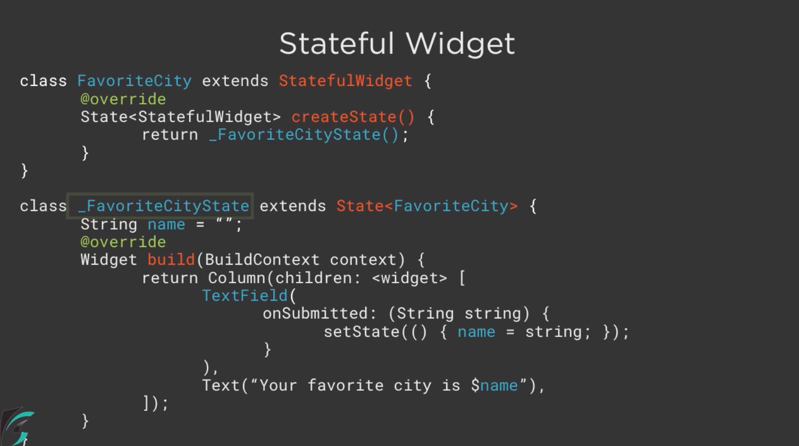 StatefulWidget Flutter 3