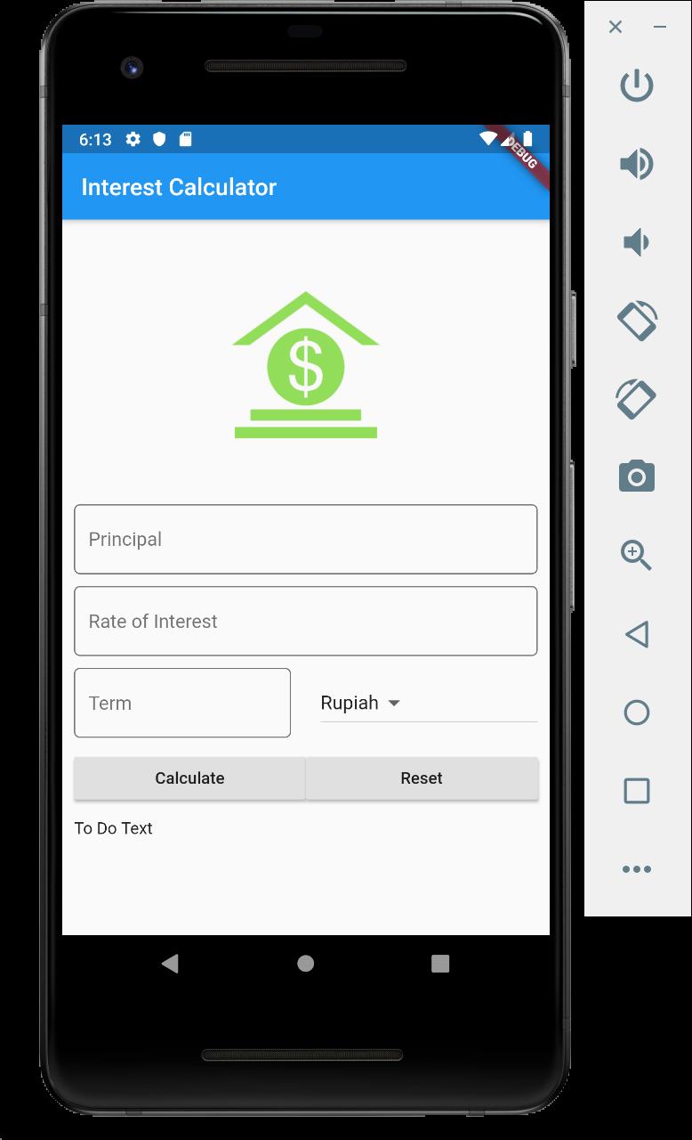 Flutter Interest Calculator App