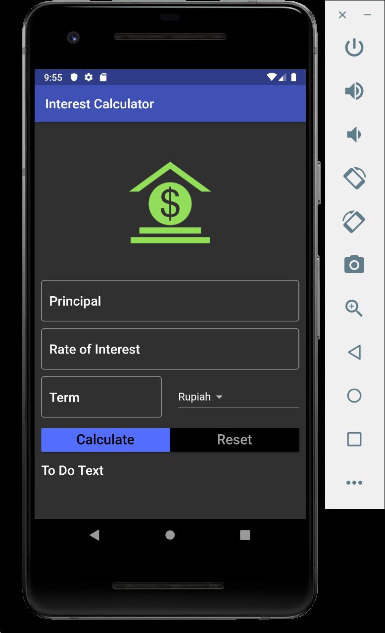 Flutter Application Interest Calculator
