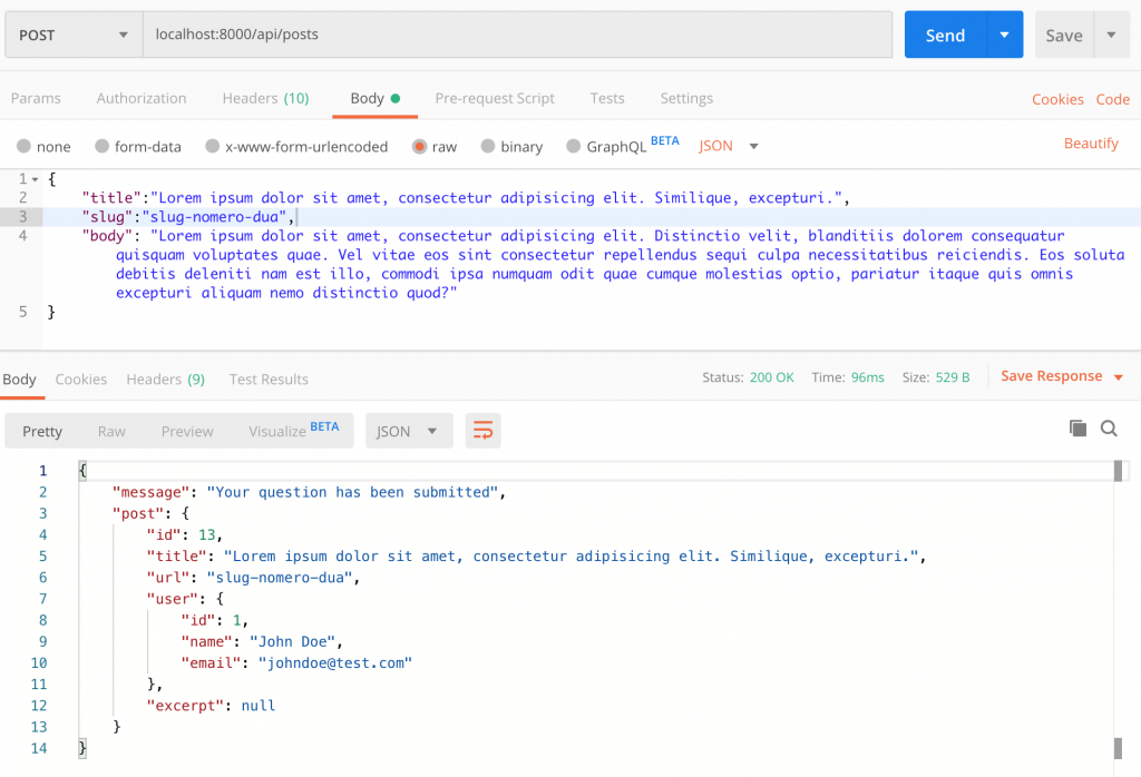 Laravel CRUD Restful API